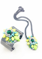 Fashion women necklace barcelet Jewelry set fashion rainbow Shourouk jewelry sets for women new 2014