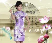 NEW Fashion Women Lycra Cotton Cheongsam Bride Cheongsam That Restore Ancient Ways Skirt Summer Classical Dress Free shipping