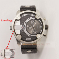 hot sale! new fashion man's genuine leather watch  luxury  famous brand Sports  watch Military Watches