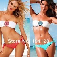 Free shipping victoria swimwear crystal bikini push up biquini beach wear bikini brazilian sexy swim suit women swimwear #05