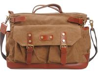 New 2014 Fashion women/men Relaxation Travel Bags Vintage Canvas Leather Messenger Bag Handbag Computer Bag