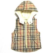 Retail top quality Brand baby boy girls vest kids Plaid Hooded Jackets fashion Waistcoat children warmer coat free shipping P244(China (Mainland))