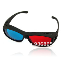 2014 Hot Sale Red & Blue 3D Stereo Glasses Viewer High Quality Plastic Frame Resin Lens Dimensional Anaglyphic Digital