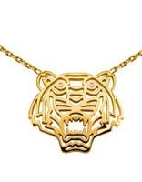 Fashion personality short design pendant ke zo cutout three-dimensional created diamond tiger pendant necklace