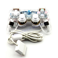 1PC FREE SHIPPING  New Wired Controller  Vibration Transparent Game Handle gamedpads compatible with P2#DW013