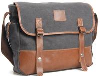 Promation Hot Sale Men's Women Vintage Canvas Bag Genuine Cow Leather Bags Messenger Bag Handbags For briefcases business bag