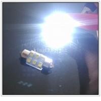 Hot Selling! Free shipping 30pcs 31mm 6 SMD 3528 LED Light Car Interior Festoon Dome Bulb Spot Lamp white DC 12V