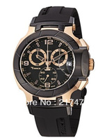 Free shipping+ wholesale! Men's T048.417.27.057.06 T-Sport Rose-Gold PVD Black Rubber Strap Watch
