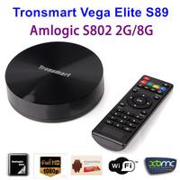 Tronsmart Vega Elite S89 Amlogic S802 Quad Core Android 4.4 TV BOX 2G RAM 8G ROM Bluetooth 4.0 XBMCDual Band WiFi  Free shipping
