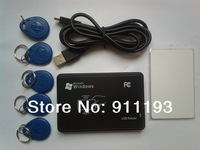 125KHz USB Proximity access control Smart rfid id Card Reader and writer copier+5pcs EM4350 tag+5pcs EM4305 card+ software CD
