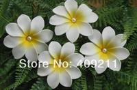 FASHION !  FREE SHIPPING+  300PCS /LOT+ KL948  9 CM FOAM  TIARE  HAIR PICK&/BROOCH  W  WHITE PEARLS +WEDDING + HAWAIIAN FLOWER