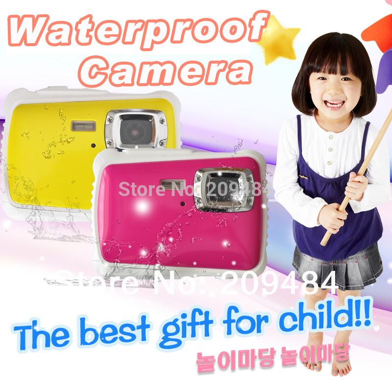 Yellow Pink Child Digital Waterproof Camera 8M underwater digital camera 2.0inch TFT LCD 4X Zoom(China (Mainland))