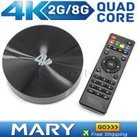 Best S82 Amlogic S802 Ouad-Core 2.0GHz 4k Android 4.4 Smart TV Box Google internet TV Box Quad Core 2GB/8GB