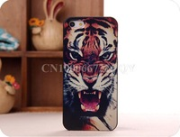 New Arrival Tiger Roar Quote Hard Case Back Cover For Apple iPhone 4 4s 5G 5S phone bags cases for iphone5