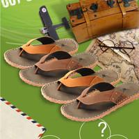 2014 men sandals Spot men cowhide flip-flops antiskid wear resistance cool beach slippers, leather thong sandals