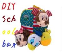 2014 New Arrival Quality Backpack DIY Schoolbag Child PRE School Kid Cartoon Bag 1504