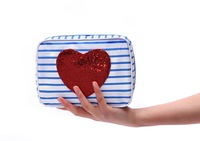Free Shipping! 2014 new arrival brand necessaire cosmetic bag high quality fashion women clutch