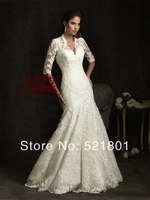 New 2014 royal palace restoring ancient ways of bud silk long sleeve wedding dress small tail wedding dress The tail 113