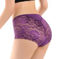 4 sexy summer bamboo fibre seamless lace panties women's triangle temptation
