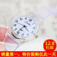 Jelly ulzzang transparent watch HARAJUKU zipper small fresh soft vintage