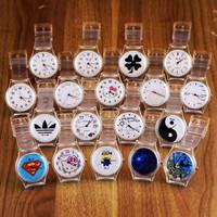 Seven ulzzang transparent watch HARAJUKU zipper small fresh soft vintage