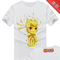 2014 New Design Cartoon Gaara Print Round Collar Men's Tees Short Sleeve 100% Cotton Naruto Printing Men T-Shirt Free ShippingLY