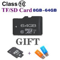 8GB 16GB 32GB 64GB Micro SD card class 10 SDHC Transflash TF CARD Memory card Free Adapter Gift card reader