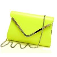 2014 casual fashion envelope bag female day clutch small iron one shoulder fashion women's handbag bag