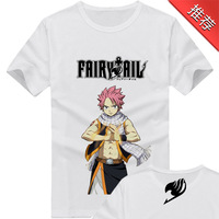 2014 New Fashion Fairy Tail Print O-Neck Short Sleeve Tees Anime Products Men 100% Cotton Shirt Men Tops (S-M-L-XL-XXL)LY