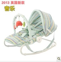 Child baby rocking chair chaise lounge placarders chair multifunctional electric swing light concentretor cradle