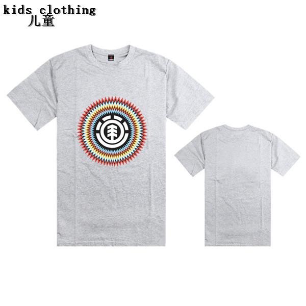 Element fashion hip hop boy children t-shirt cheap print kids clothing casual summer t shirts girl youth street wear cheap sale(China (Mainland))