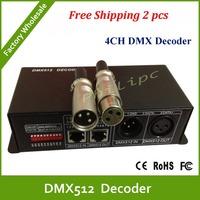 DHL free shipping DC 5V-24V DMX Decoder& Driver,4 channels RGBW LED Smart Controller