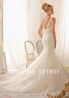 The bride wedding dress new 2014 big yards fat mm show thin tail shoulders a word shoulder wedding dress trailing 124