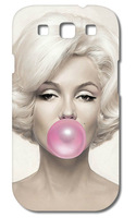 1PCS  Marilyn Monroe Bubble Gum Hard Case Cover for Galaxy S3  I9300 SIII free shipping