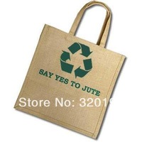 customized eco-friendly jute tote bag, printing logo shopping bag
