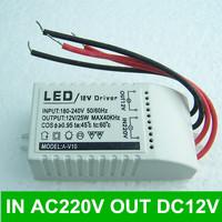 DC 12V 2A Power Supply Transformer  adapter for LED light lighting voltage converter INPUT AC220V