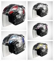 SOL-27S DJ-0180,Open Face,3/4 Helmet,DJ Series,Black,5 Colors All In,Motorcycle,High Quality EPS,Anti-UV 400 Lens,DOT Test