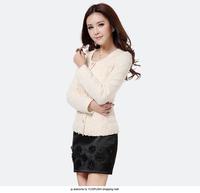 2014 Spring Autumn hot sales brand design O-Neck single breasted all-match elegant short jacket women office wear#Y6239