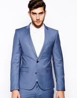 2014 New Designer Luxury Italian Brand Slim Fit Blue Groom  Tuxedos Best  Man Suit  Wedding Groomsman  Custom Made Formal Suits