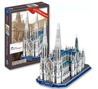 DIY USA Famous Building 3D Puzzle Toys Colorful Print New York Saint Patrick's Cathedral Jigsaw 117 Pc's Set