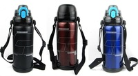 Quality Japan Outdoor Fun & Sports 800ML Big Vacuum Thermos Bottle Mug Steel Flask Shoulder strap Hot & Cold Drinkware 2 covers