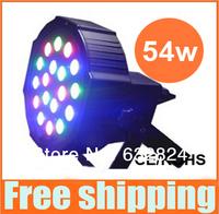 6PCS/LOT New 2014!18*3W Led Stage Light High Power RGB Par Light With DMX512 Master Slave Led Flat DJ Equipments Controller