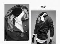 High Quality 2014 NEW Autumn&Winter Rabit fur Hoodies Sweatshirt Men,Fashion Hoodies Jackets Coat Male