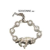 2014 New arrival fashion cloth pearl bangle/bracelet sets jewelry Unicorn bangles free shipping