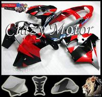For Kawasaki ZX9R 2000 2001 red silver  Ninja 2000 2001 zx 9r ZX-9R 2000 2001 ABS Fairing Set Plastic Kit 03