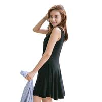 Cherrykoko 2014 spring sleeveless solid color charm fashion one-piece dress