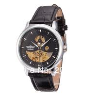 Brand Winner Military Watch Luxury Auto Mechanical Watches 4 Hands Date Tourbillon Mens Wrist Watch Free Shipping