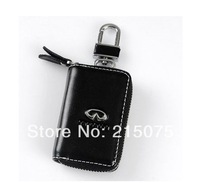 Auto infiniti key wallet cover shell keyrings key holders key bags keychain genuine leather car accessories Free shipping