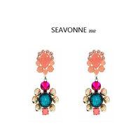 Freeshopping 2014 New Fashion Statement Earrings for Woman Jewelry Earrings dropshipping E