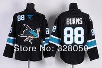 Wholesale good quality Brand lce Hockey Jersey San Jose Sharks Ice Hockey Jerseys #88 Brent Burns Men's Black Authentic Jersey